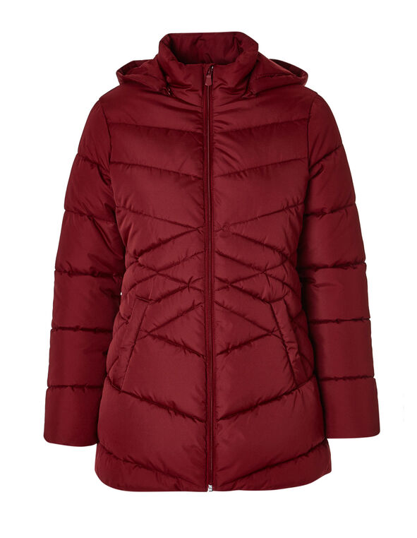 Crimson Polyfill Diamond Jacket, Crimson, hi-res