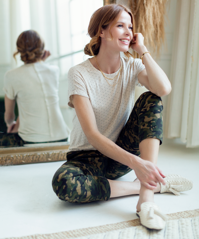 Olive Camo Pant Look,