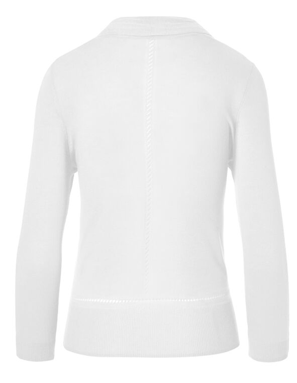 White Mid Length Topper, White, hi-res