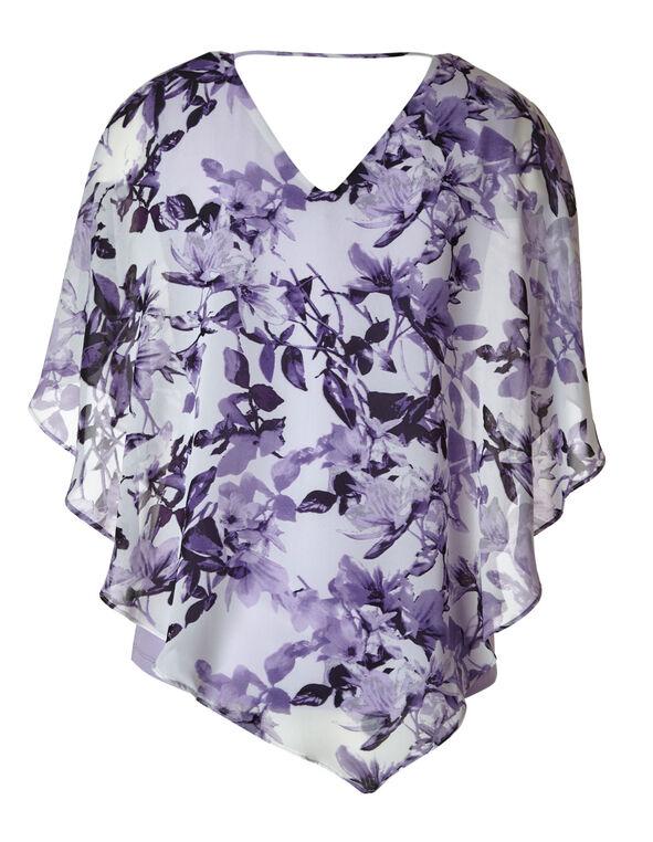 Lavender Printed Caftan Blouse, Lavender, hi-res