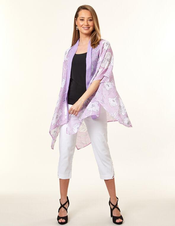 Orchid Floral Kimono, Purple/Orchid, hi-res
