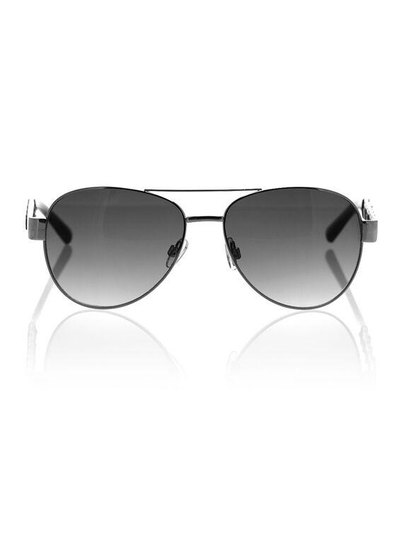 Black Aviator Sunglasses, Black, hi-res