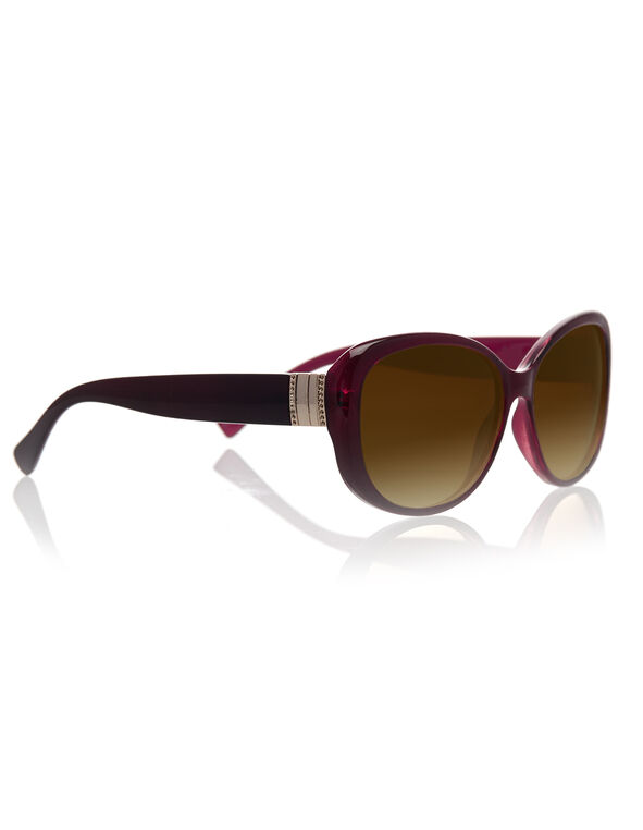 Cherry Red Plastic Frame Sunglasses, Red, hi-res