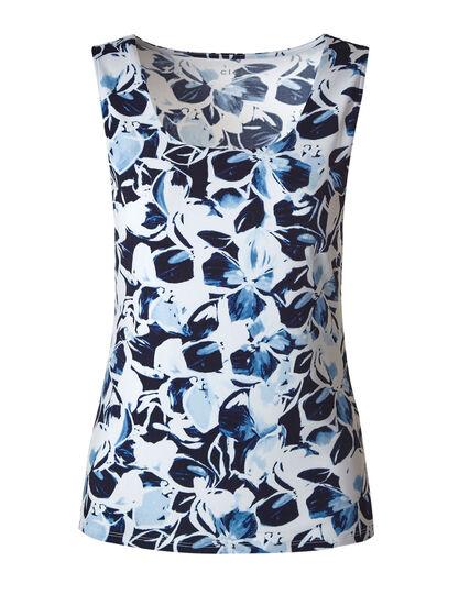 Blue Floral Essential Layering Cami, Blue, hi-res