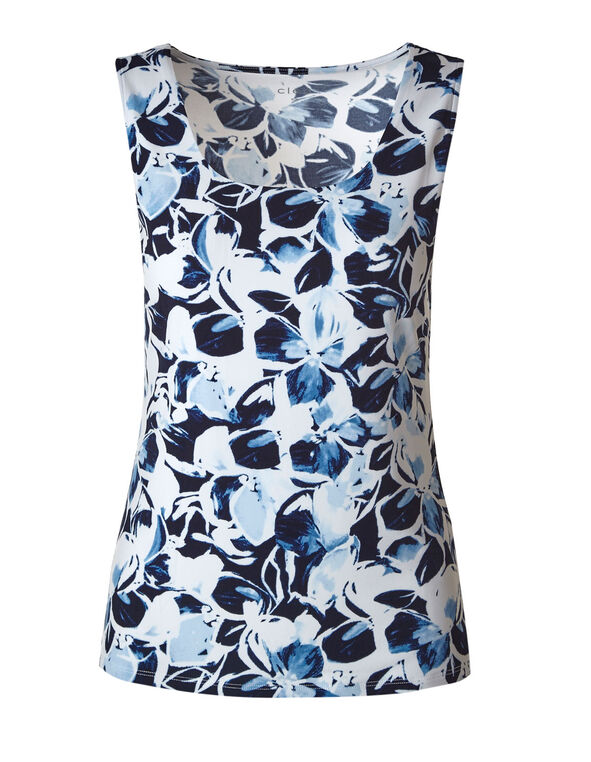 Blue Floral Essential Layering Cami, Blue, hi-res