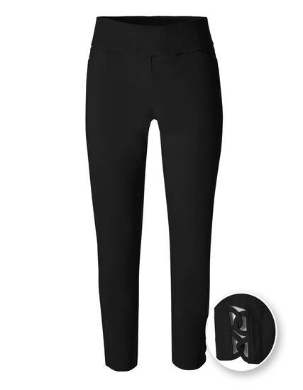 Black Pull On Ankle Pant, Black, hi-res