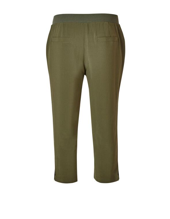 Olive Soft Crop Pull On Pant, Summer Olive, hi-res