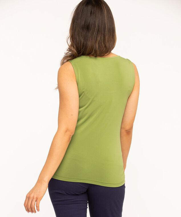 Essential Scoop Neck Layering Tank, Green