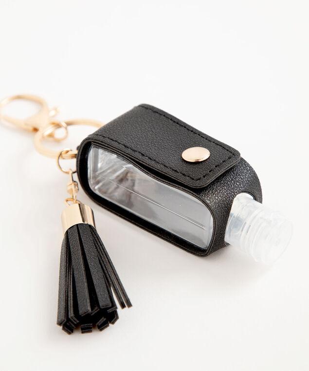 Hand Sanitizer Tassel Keychain, Black
