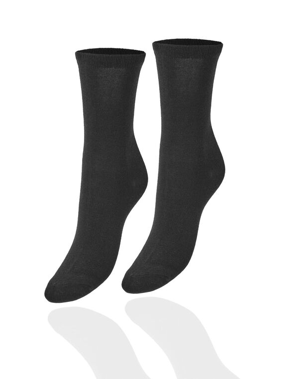 Black Crew Sock, Black, hi-res