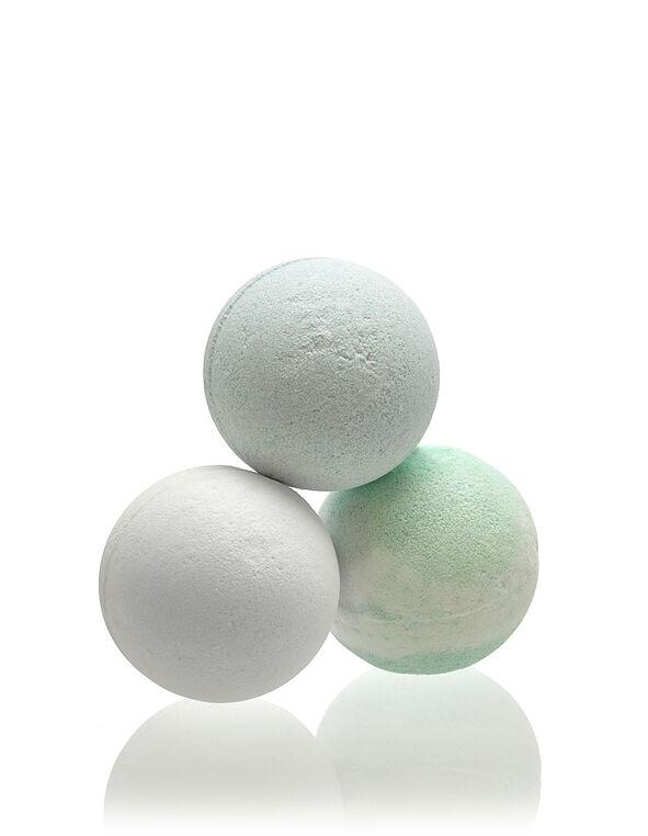 Vanilla Frost Bath Bomb Trio, White, hi-res