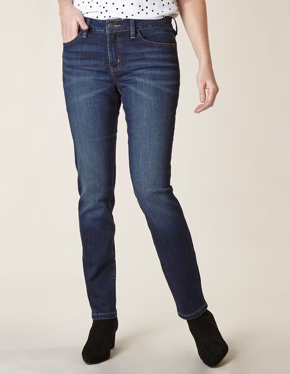 Slim Leg Washed Jean, Blue/Navy, hi-res