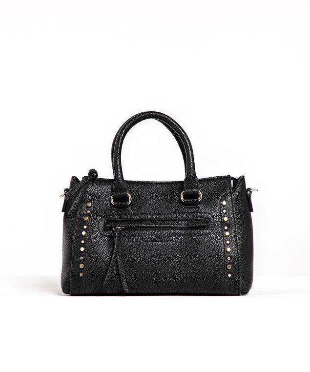 Black Gold Studded Handbag, Black/Gold Metal