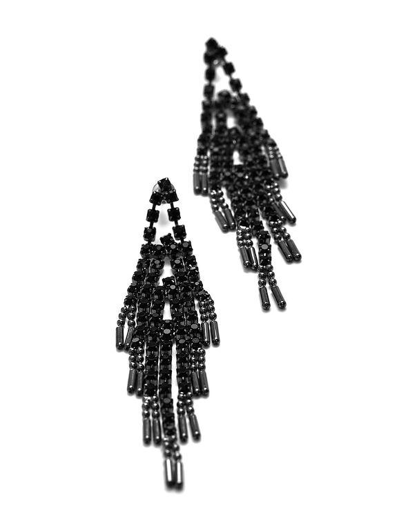 Jet Black Chandelier Earring, Black, hi-res