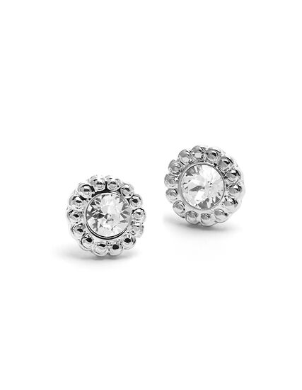 Genuine Crystal Clear Earring, Silver, hi-res
