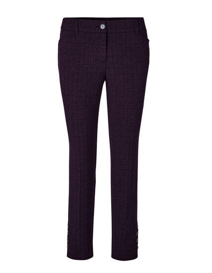 Purple Favourite Curvy Ankle Pant, Purple/Black, hi-res