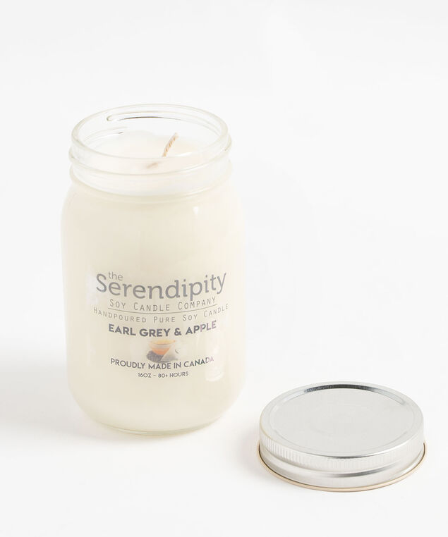 Earl Grey & Apple Soy Candle, White