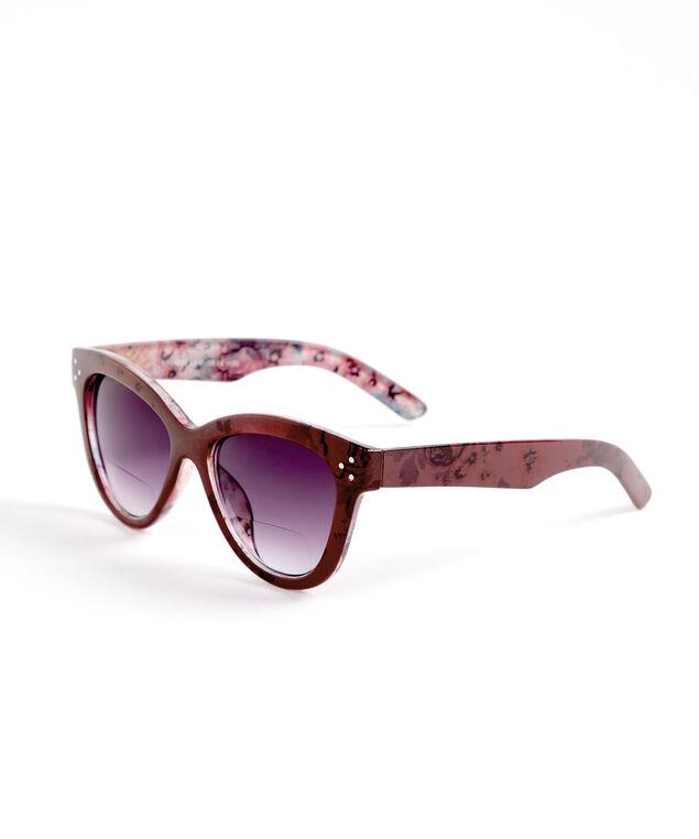 Floral Wine Bi-Focal Sunglasses, Wine