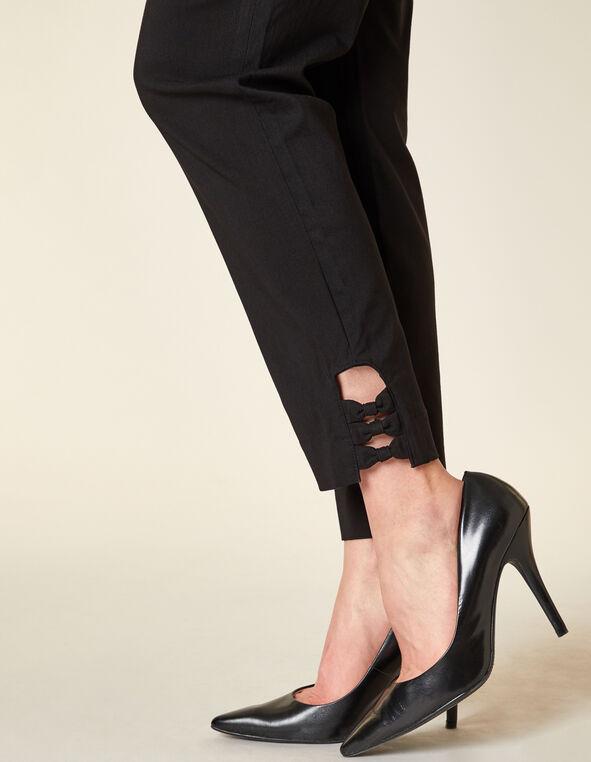 Black Slim Ankle Pant, Black