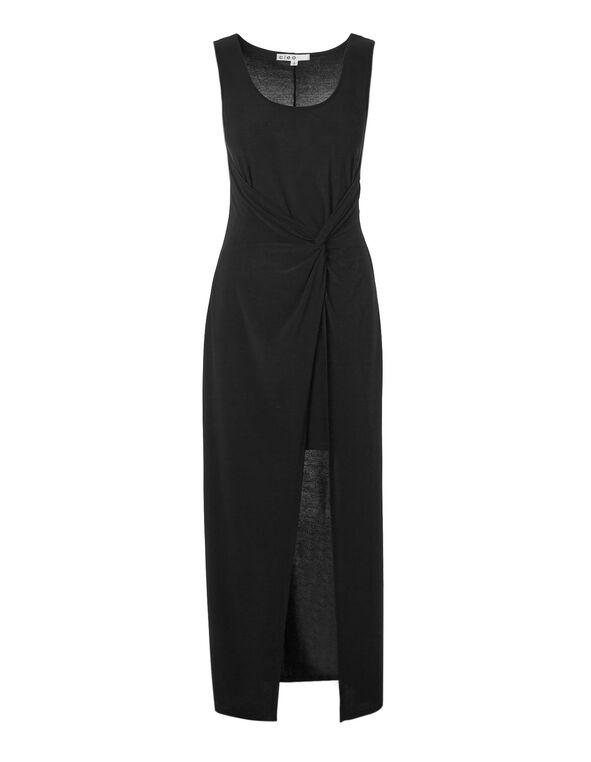 Black Knot Maxi Dress, Black, hi-res
