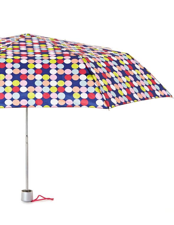 Multi-Colour Dotted Umbrella, Blue, hi-res