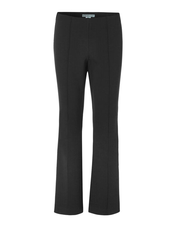 Black Pullon Bootcut Pant, Black, hi-res