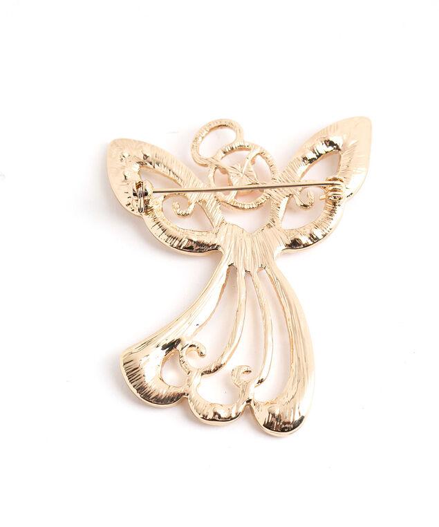 Christmas Angel Pin, Gold