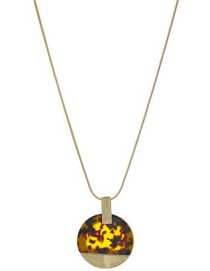 Gold Tortoise Short Necklace, Brown/Gold, hi-res