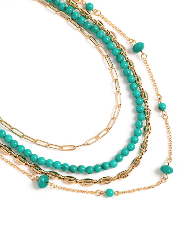 Turquoise Beaded Layer Necklace, Turquoise