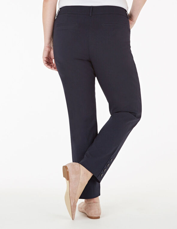 Navy Slim Leg Ankle Pant, Navy, hi-res