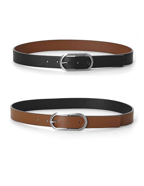 Brown/Black Reversible Belt, Brown/Black, hi-res