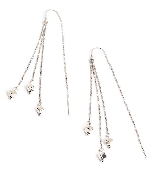 Multichain Threader Earring, Silver