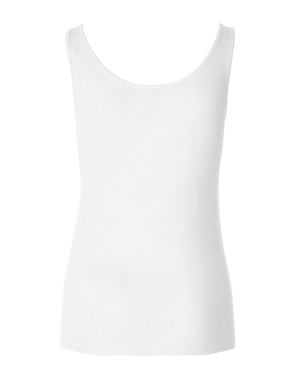White Universal Layering Cami, White, hi-res