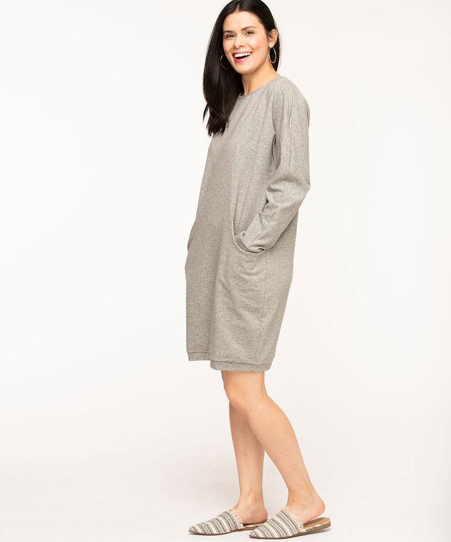 Dolman Sleeve Cocoon Dress, Grey