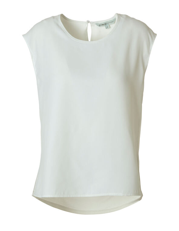 Ivory Knit Back Top, Ivory, hi-res