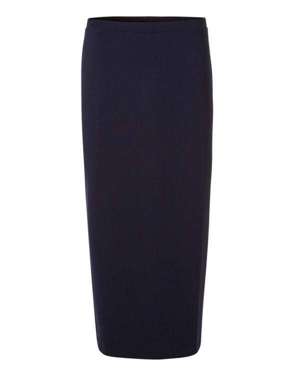 Navy Maxi Pullon Skirt, Navy, hi-res