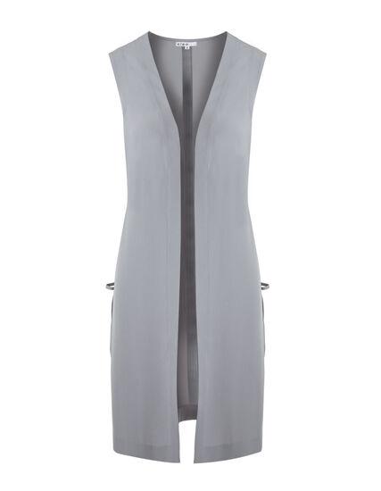 Light Grey Long Vest, Light Grey, hi-res