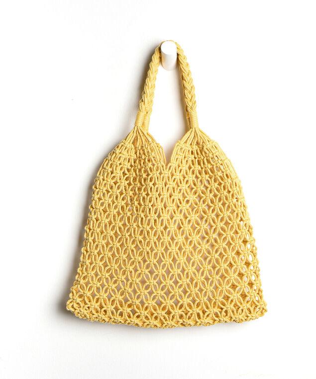 Woven Tote Bag, Yellow
