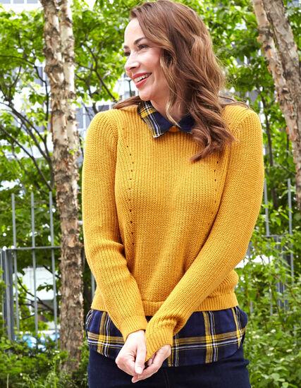 Ochre Fooler Sweater, Mustard, hi-res