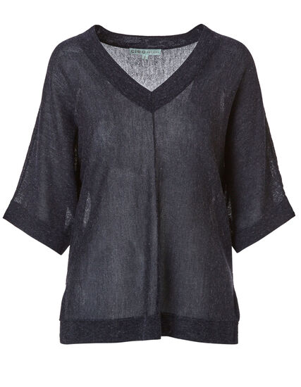 Navy Dolman Sleeve Sweater, Navy, hi-res
