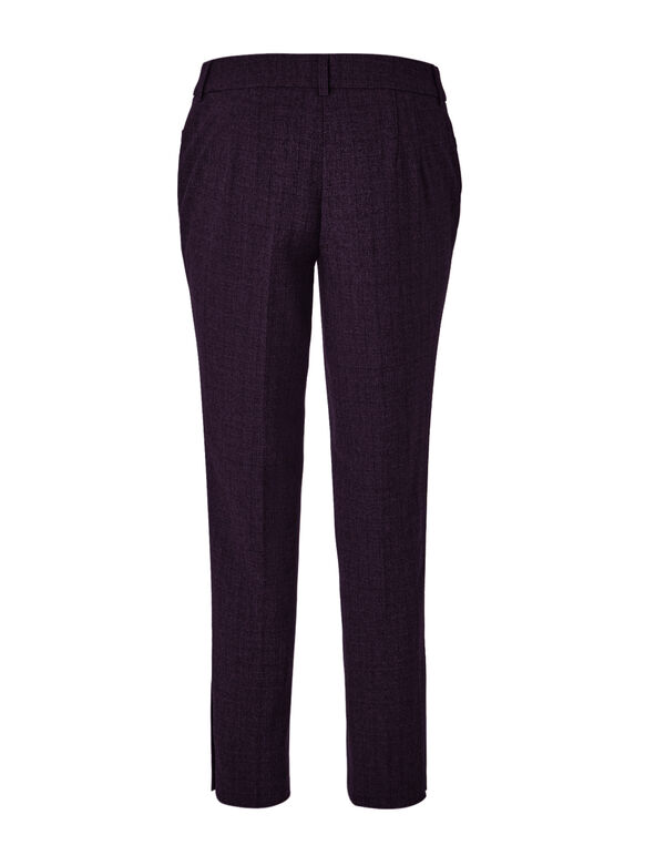 Purple Favourite Curvy Ankle Pant, Purple/Black, hi-res