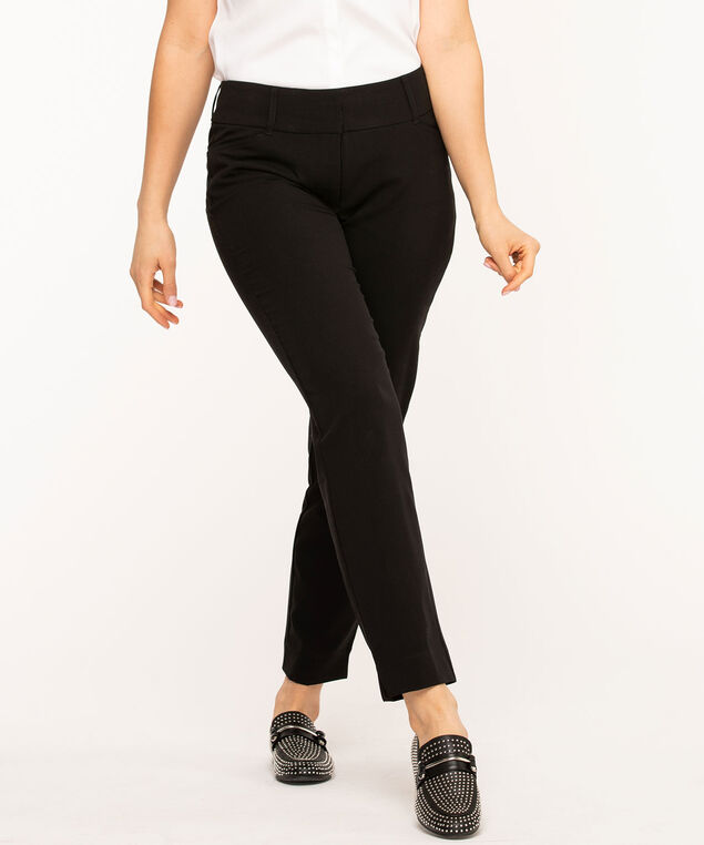 Black Slim Leg Ankle Pant, Black