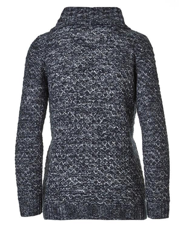Navy Button Wrap Sweater, Navy, hi-res