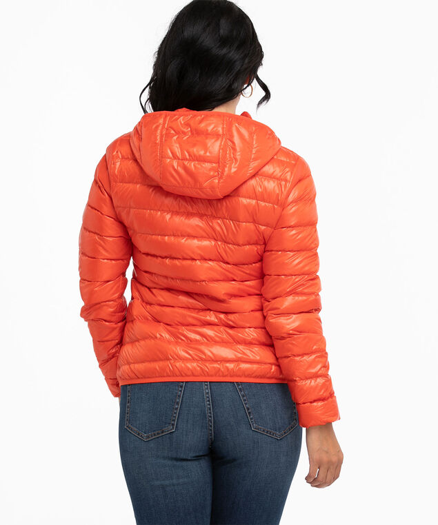 Recycled Pack It Up Down Jacket, Orange