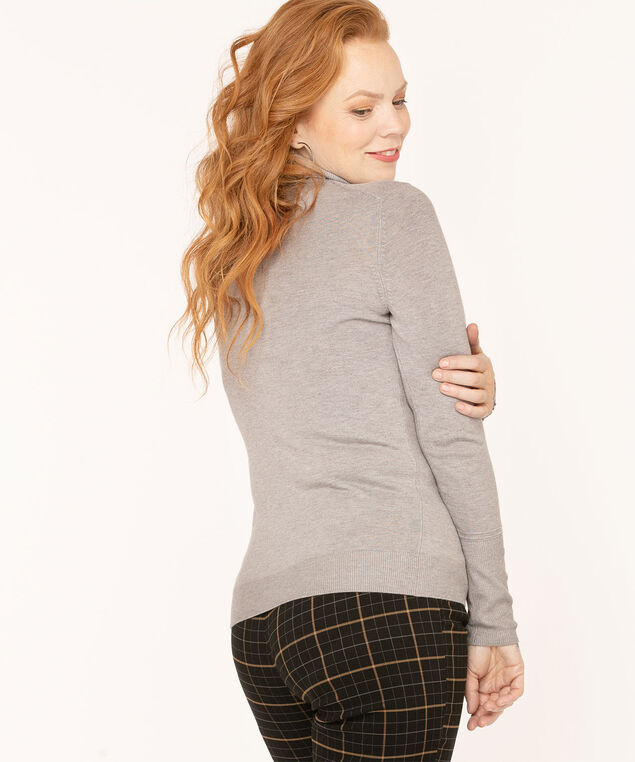 Long Sleeve Essential Turtleneck, Grey