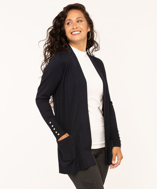 Long Sleeve Cardigan, Navy, hi-res