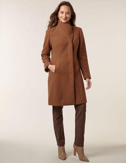 Camel Classic Wool Blend Coat, Camel, hi-res
