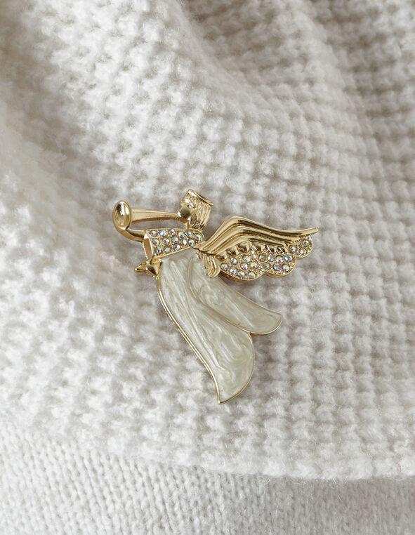 Gold Angel Pin, Gold, hi-res