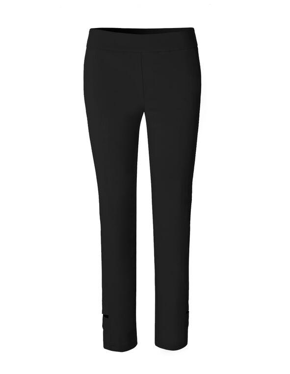 Black Lattice Ankle Pant, Black, hi-res