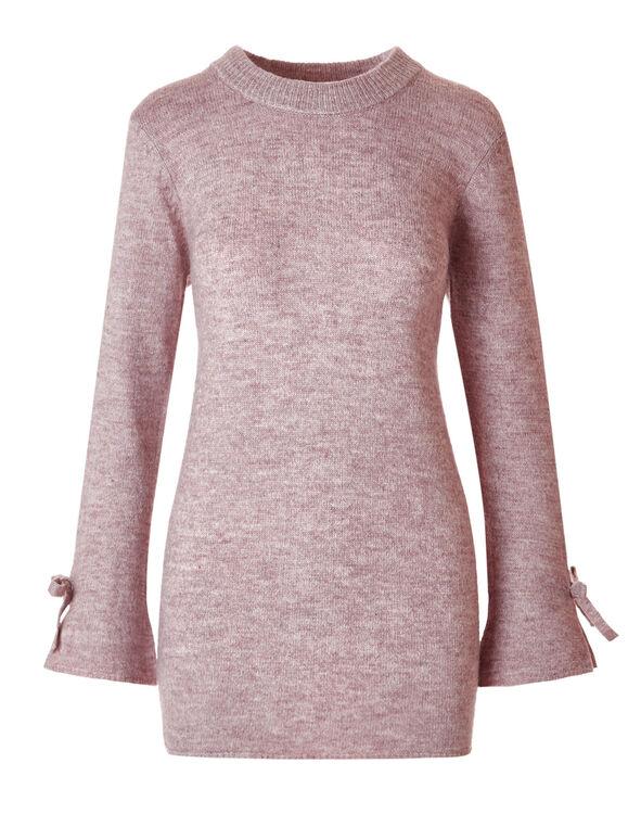 Light Plum Bell Sleeve Sweater, Light Plum, hi-res